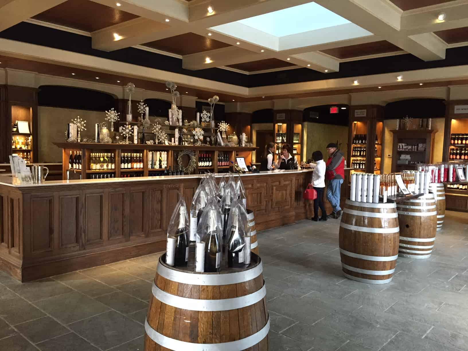 Inside view of Reif Estate Winery tasting room