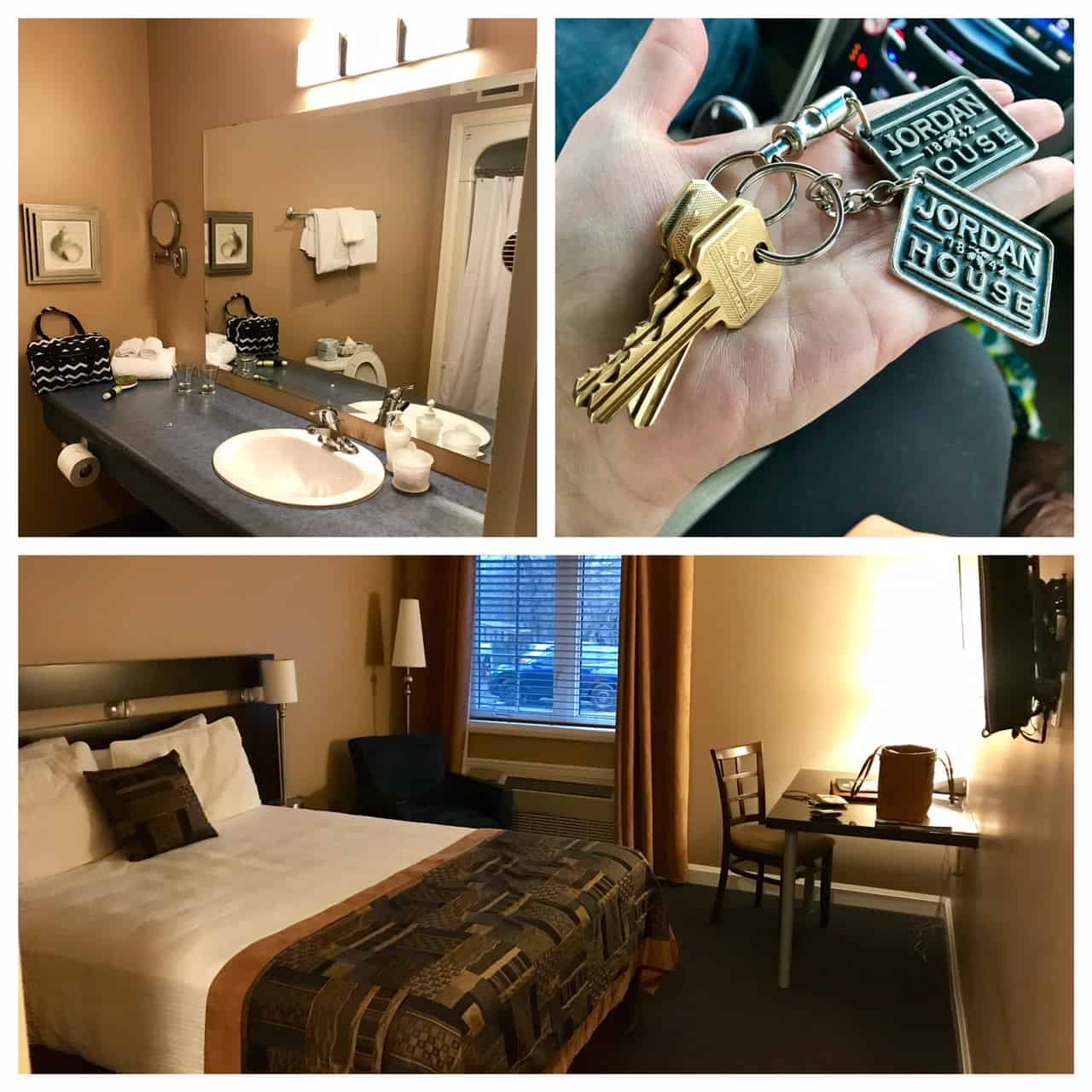 Collage of images from Jordan House Hotel