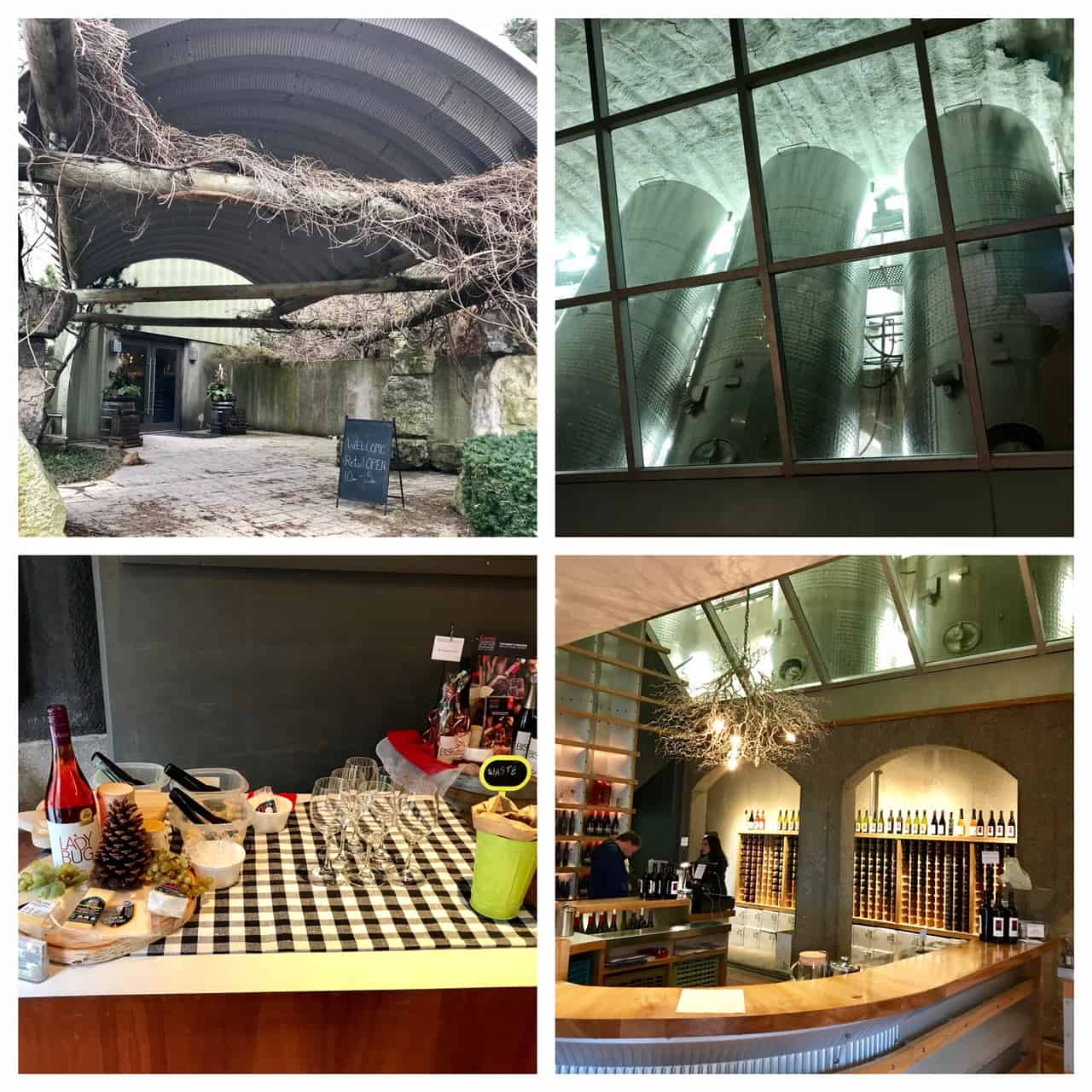Collage of images from Malivoire Winery
