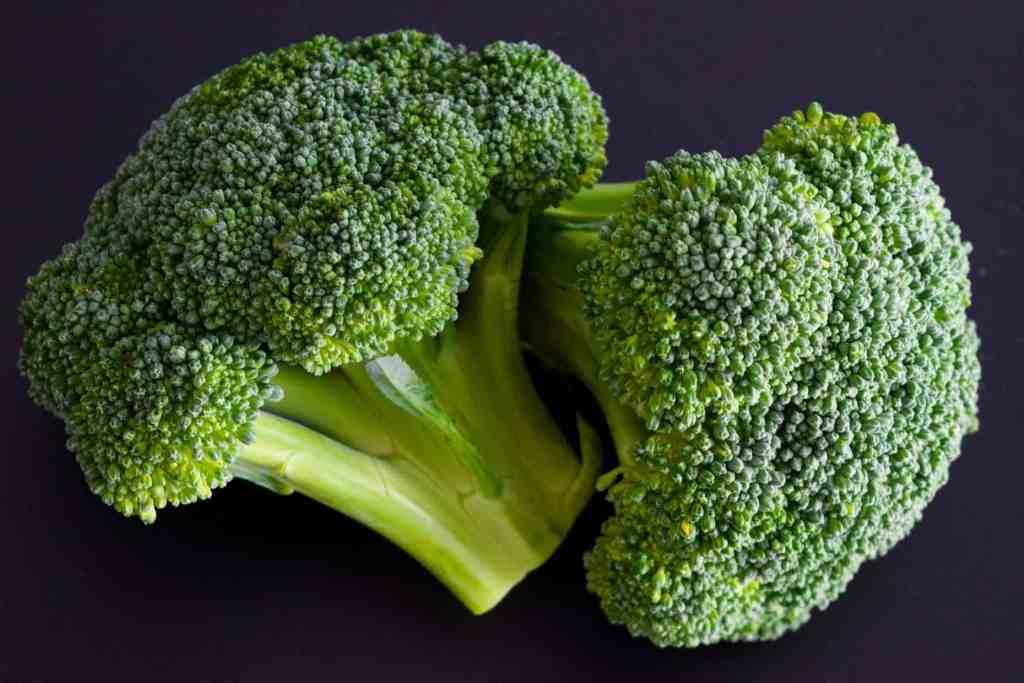 Broccoli on black background