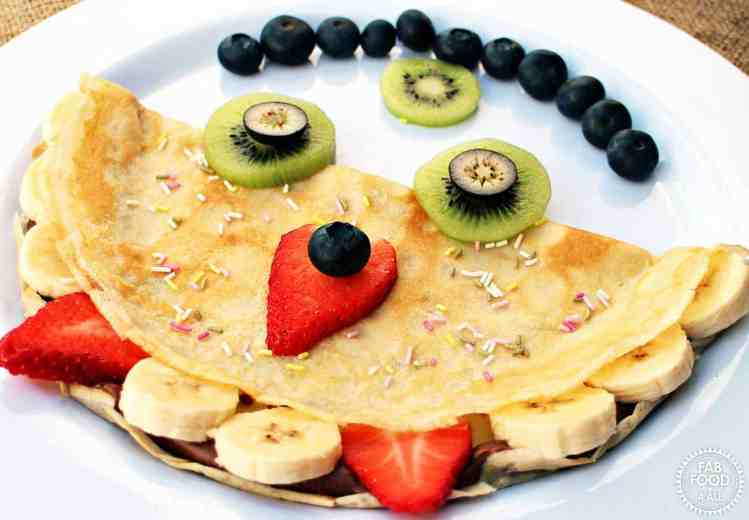 pancake shaped like monster with face