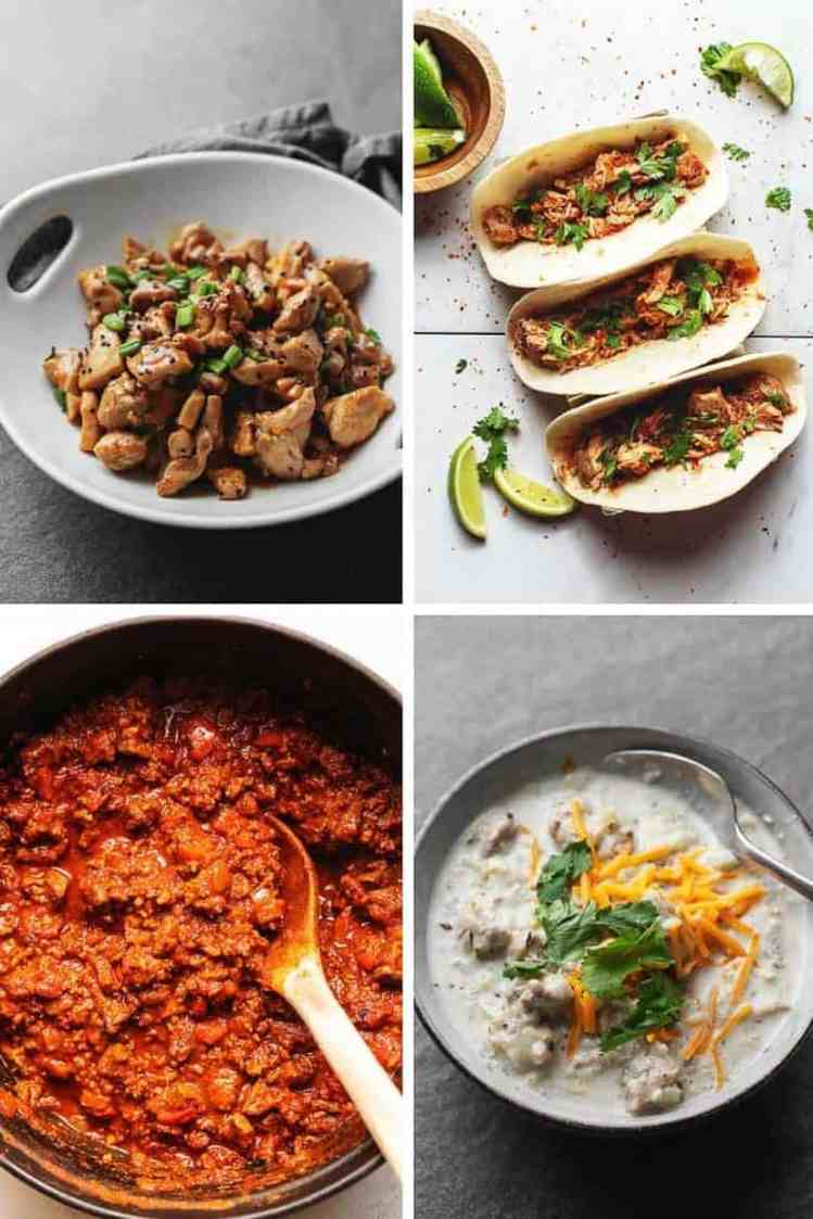 collage of 4 easy meals
