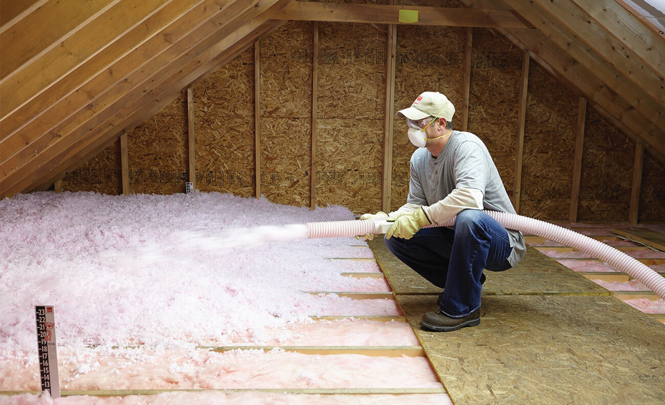 Fiberglass Attic cutters insulation