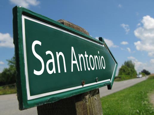 San Antonio road sign