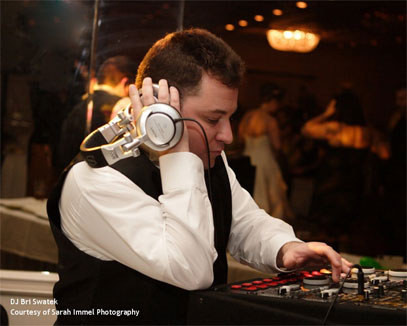 DJ spinning at a event