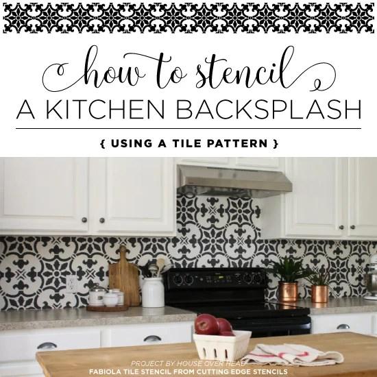 kitchen backsplash using a tile pattern
