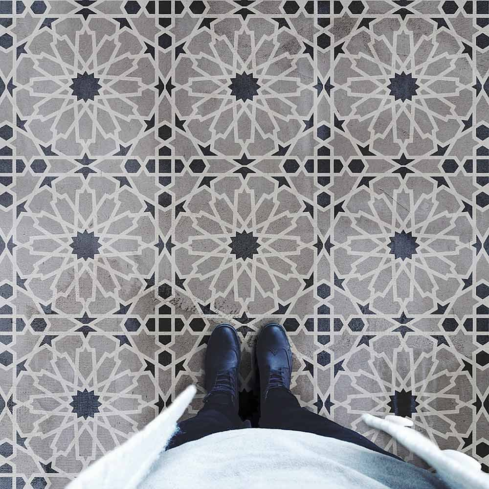 moroccan magic tile stencil