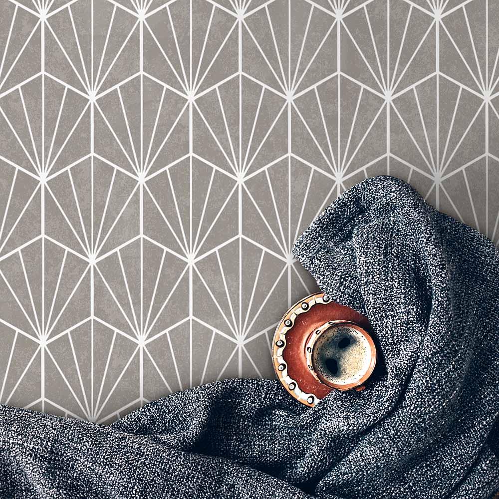 herringbone tile stencil for painting