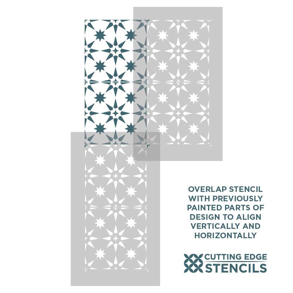 save reusable tile stencils for