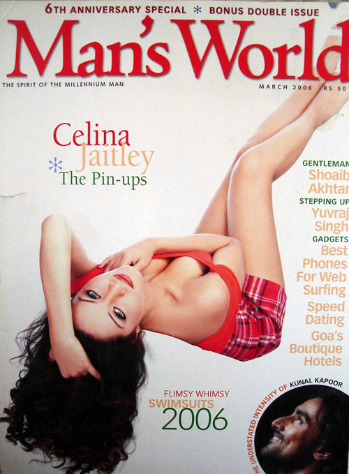 Man's World, March 2006. Featuring Celina Jaitley