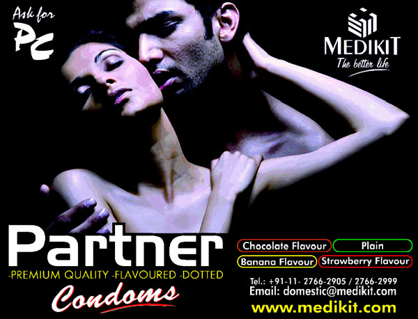 Partner premium quality flavoured dotted condoms