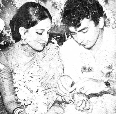 A picture from Sunil and Marshaniel Gavaskar's wedding album