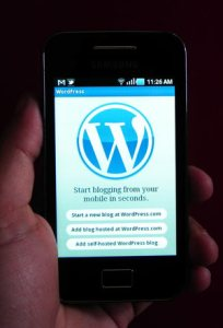WordPress app in Gamsung Galaxy Ace