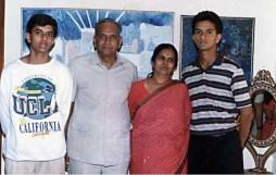 Rahul Dravid with family