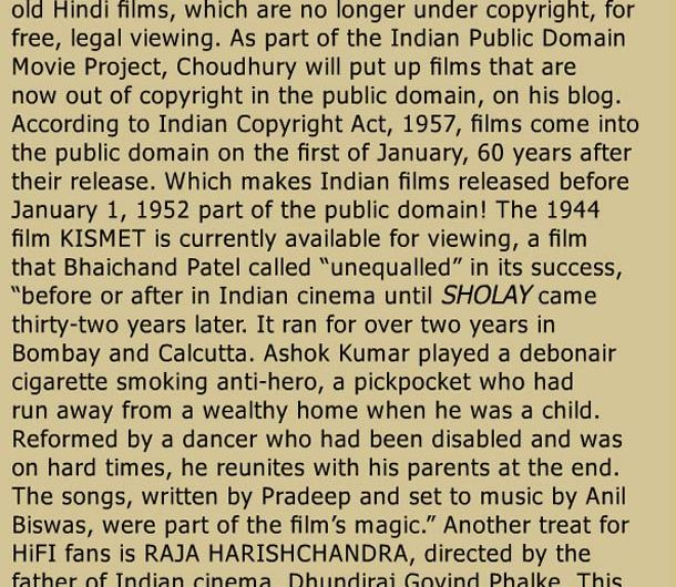 Cine Blitz on The India Public Domain Movie Project