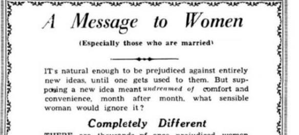 1957 Indian ad for Tampax tampons 'especially for married women'