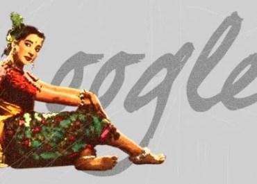 Suchitra Sen unofficial Google doodle