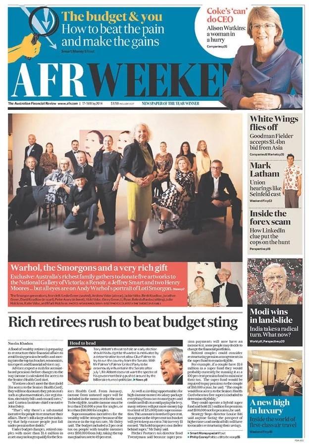 The Australian Financial Review, Sydney, Australia