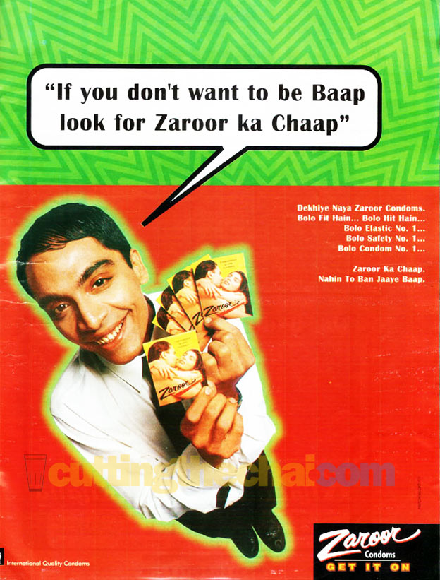 Zaroor Condoms ad from 1999