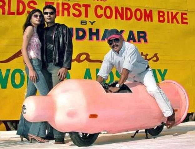 Condom bike