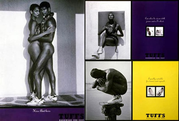 Tuffs shoes ad featuring Madhu Sapre and Milind Soman