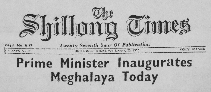 The Shillong Times, January 20, 1972