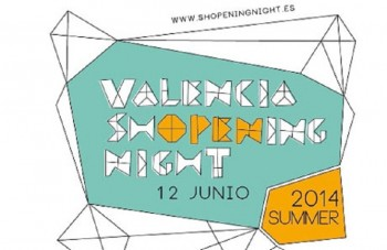 Cartel oficial de la Valencia Shopening Night