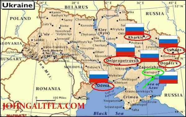 Imagini pentru harta focarelor separatiste în Ucraina