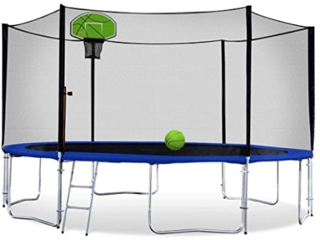 Exacme Outdoor Trampoline with Basketball Hoop