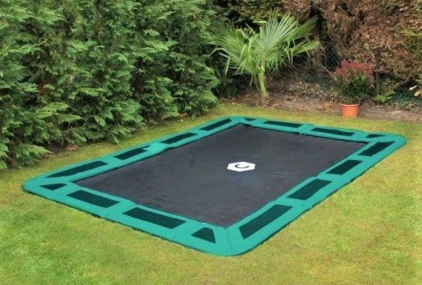 Pros and cons of an in-ground trampoline