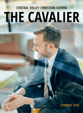 The Cavalier - the cover of Central Valley Christian School magazine