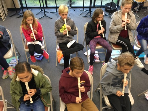 4th Graders Practice Their Fingerings During Music Class
