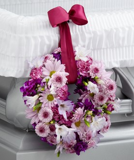 The FTD® Thoughts & Prayers™ Wreath Adornment