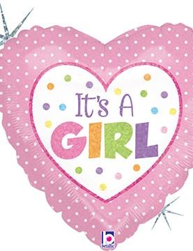 Baby Girl Dots Balloon