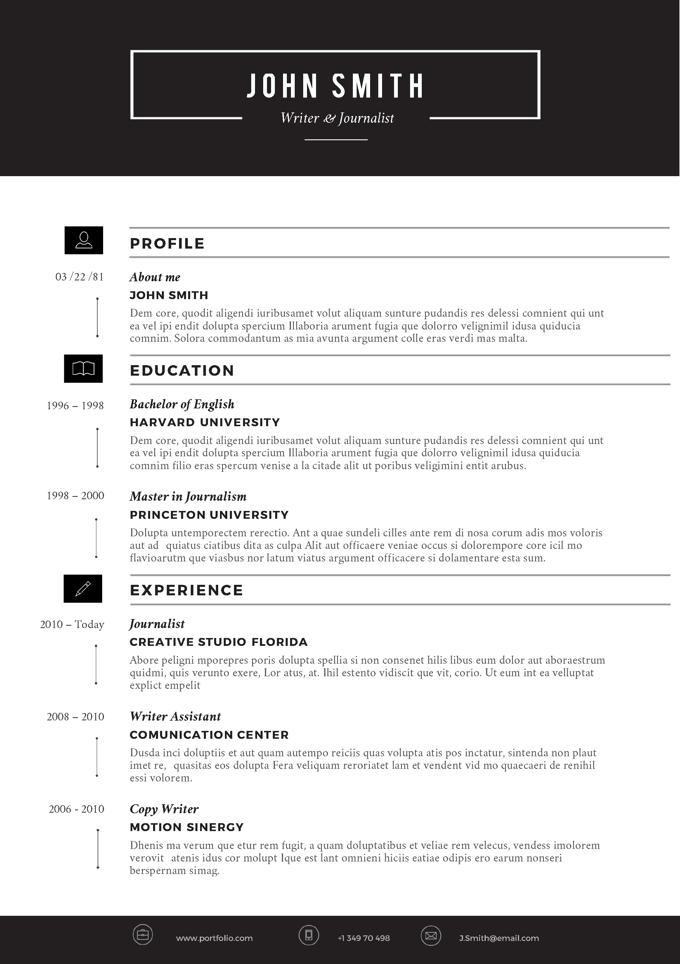 our collection of creative resume templates free unique resume