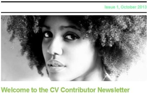 CV Contributor Newsletter | Issue 1, October 2013