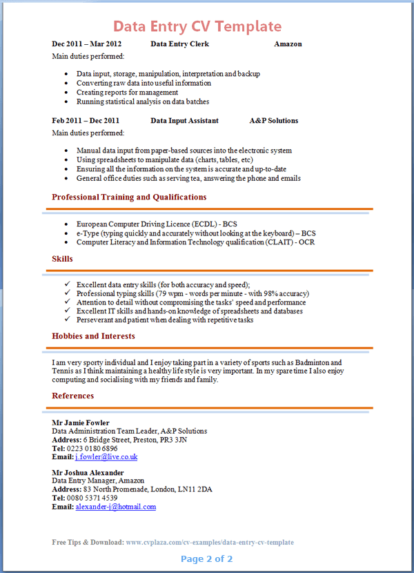 beautician cv resume