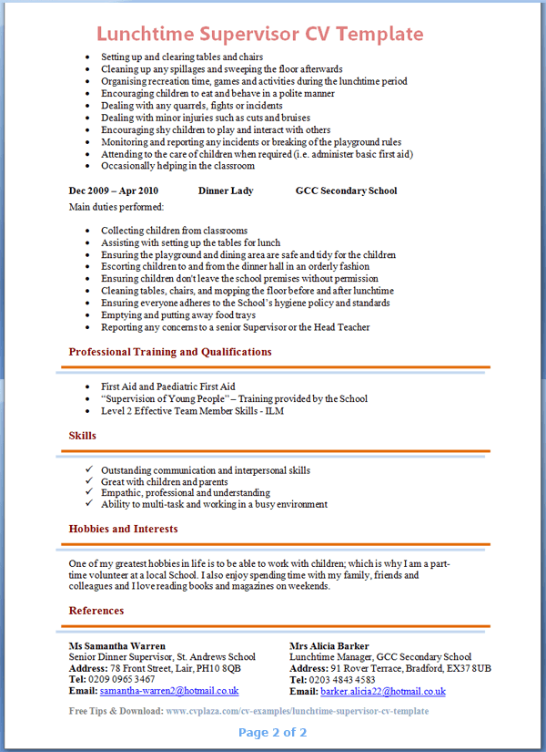 Example Hobbies And Interests On A Resume