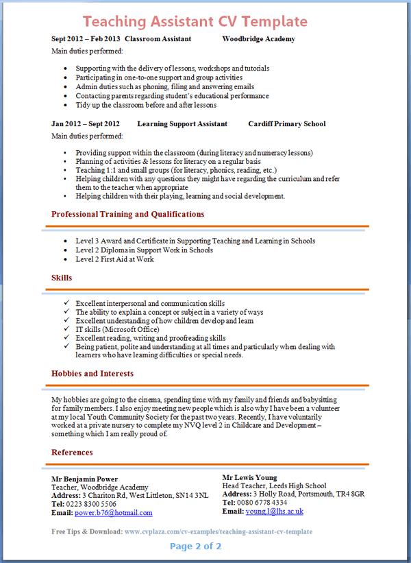 Teacher Resume Job Description. Unforgettable Teacher Resume