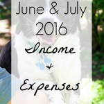 June & July 2016 Income and Expenses