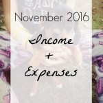 November 2016 Income and Expenses