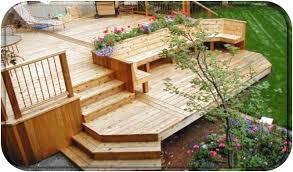 custom cedar deck construction