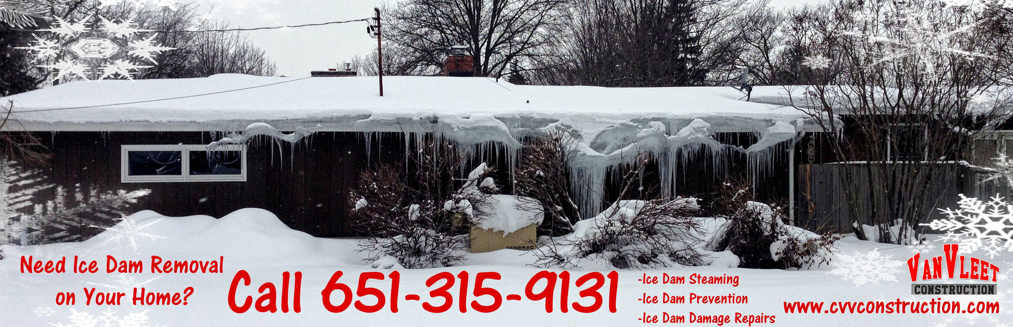 Ice Dam Removal Company, roof ice removal