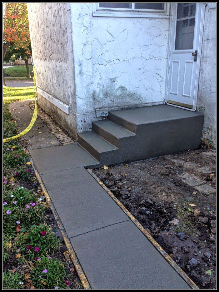 cement step installation