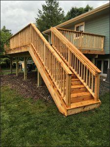 Twin Cities cedar deck project