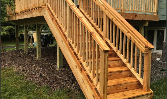Twin Cities cedar deck project