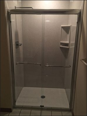 """48"""" Blizzard Onyx Collection shower replacement project in Plymouth, MN"""