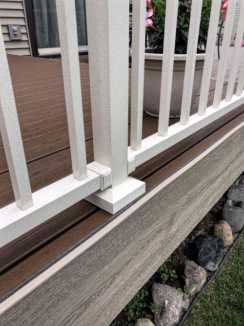 Westbury sandy shore post on mn deck