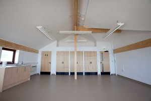 Interior of lifeboat station building project cornwall