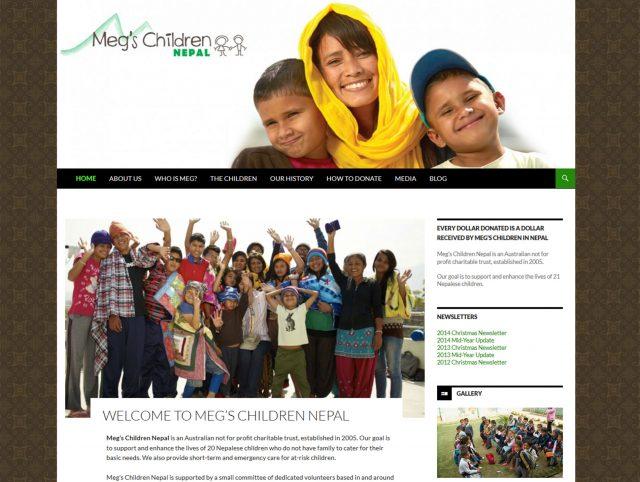 Website Designers Wallan - Megs Children Nepal